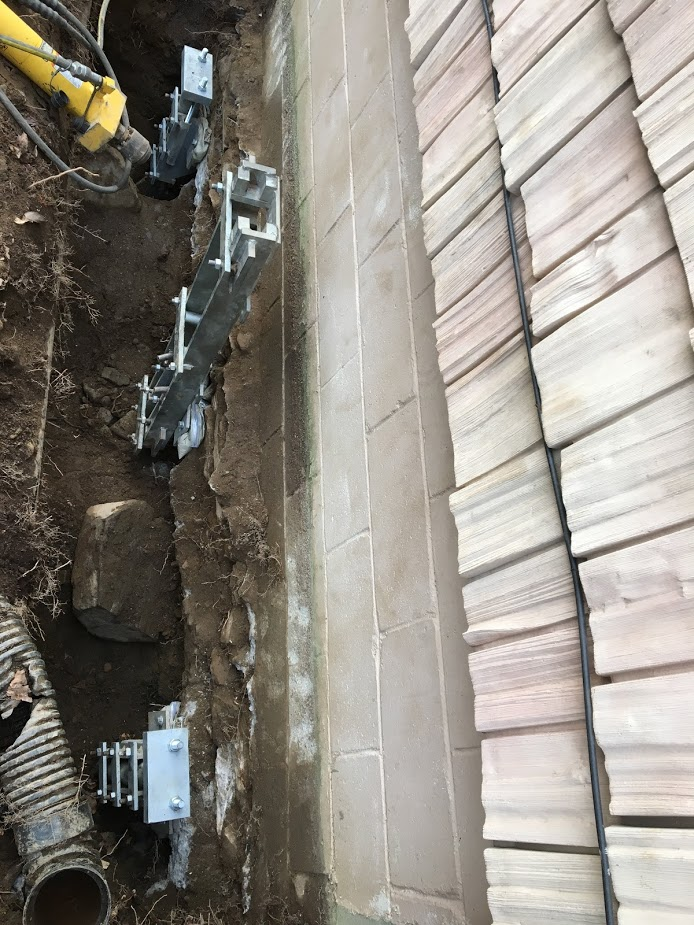 Sinking Foundation Repair with Push Piers Fairfield CT (4)