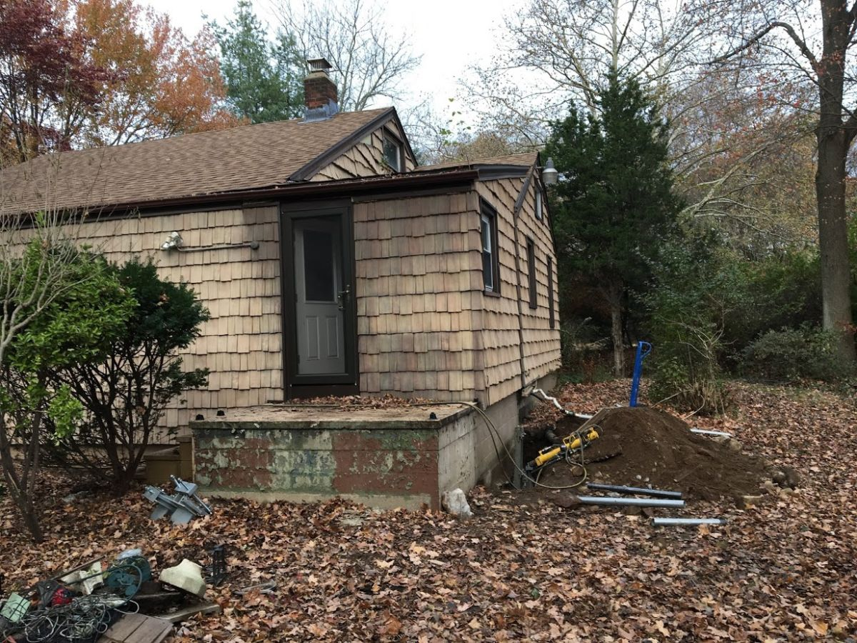 Sinking Foundation Repair with Push Piers Fairfield CT (5)