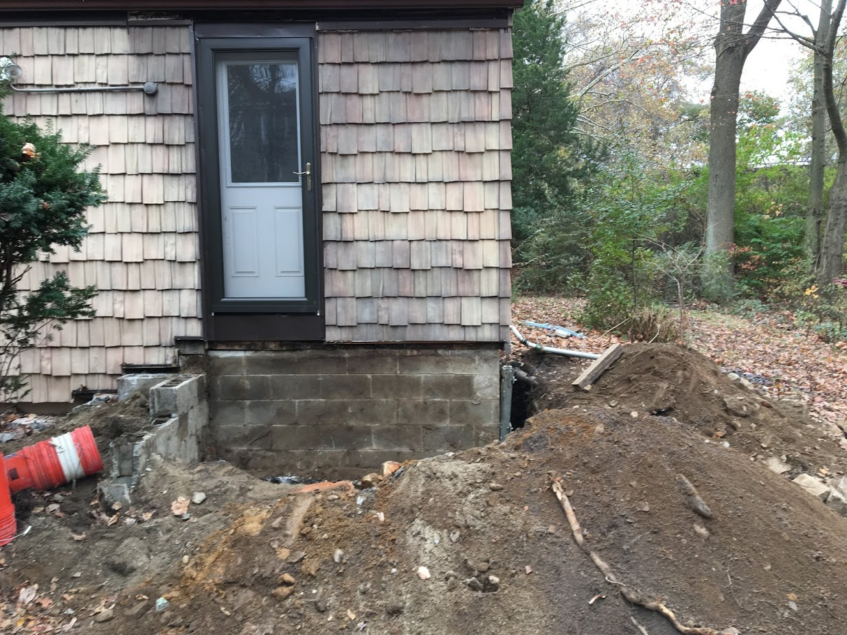 Sinking Foundation Repair with Push Piers Fairfield CT (9)